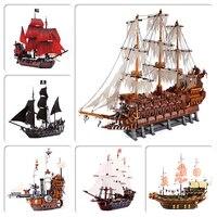 Lepinblocks 16016 16006 16009 22001 совместимый 10210 70618 4184 4195 Пираты корабль строительные кирпичи развивающие игрушки Diy подарки