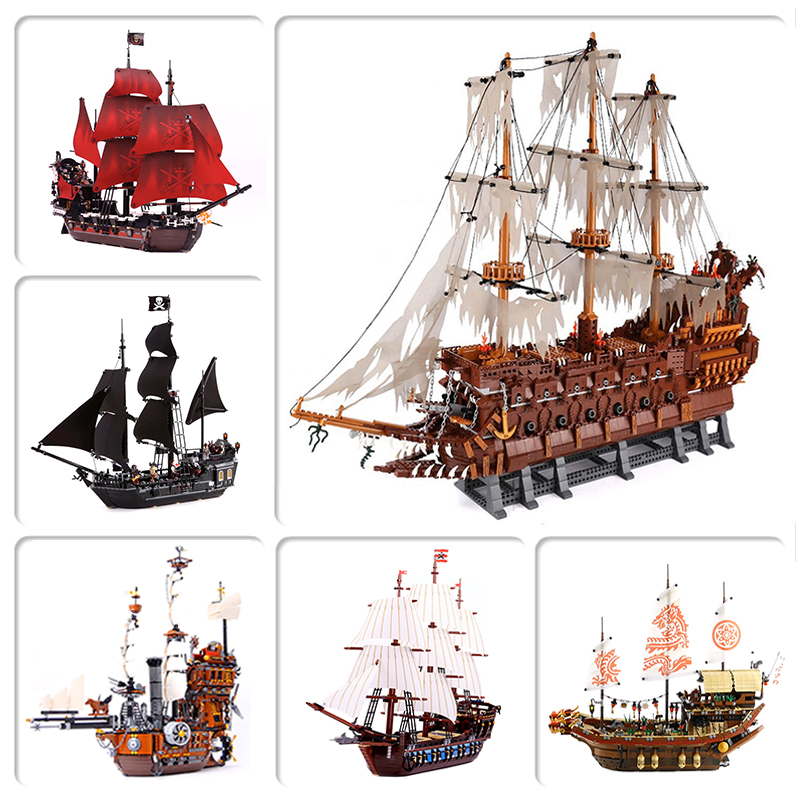 Lepinblocks 16016 16006 16009 22001 Compatible 10210 70618 4184 4195 Pirates Ship Building Bricks Educational Toys Diy Gifts