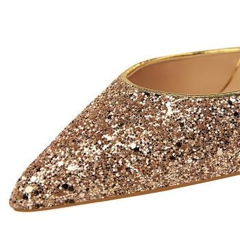 Summer Luxury High Heels Bling Sequin Sandals  6