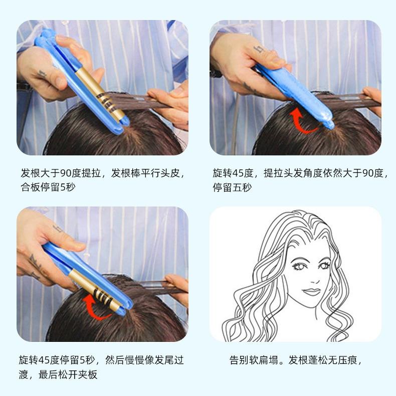 azul curling e alisamento alisador de cabelo 04