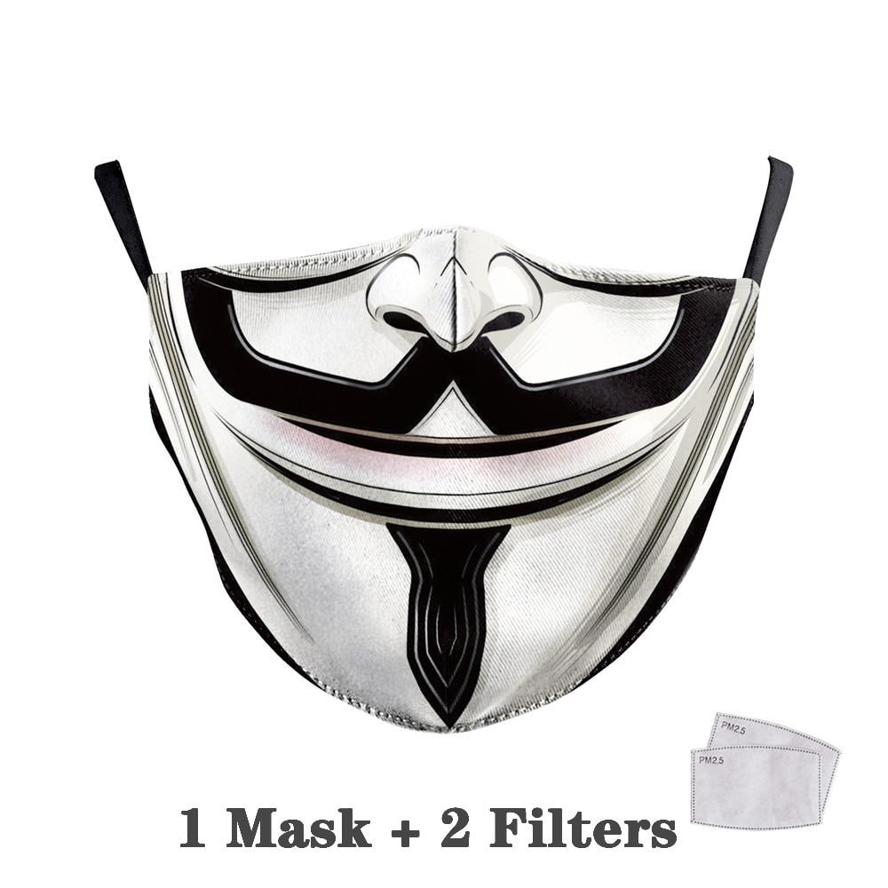 Washable Big Mouth Skull Face Masks 15