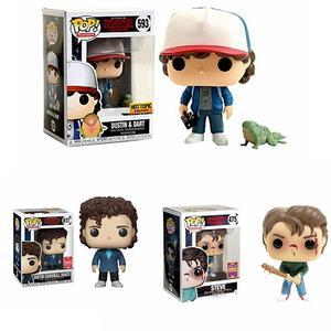 Image 1 - POP Stranger things little Eleven with eggos Dustin Dart Steve Dustin Snowball Dance PVC Action Figure toys for chlidren Gift