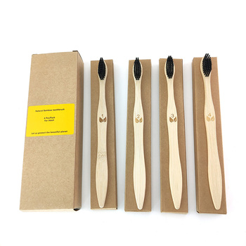4PCS Eco-Friendly Reusable Bamboo Toothbrushes, Toothbrush made from Natural Biodegradable  Bristles