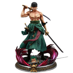 37cm One Piece Three Swords Roronoa Zoro GK Action Figure Model Anime Statue Collection Toy doll Christmas gift