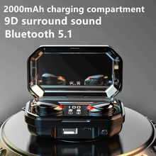 Wireless Headphones TWS Bluetooth Headphones 5.1 Waterproof Sports 9D Stereo Wireless Earphones Touch Bass Headset Mini Earbuds