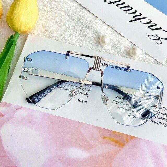 Adults Rimless UV400 Sunglasses