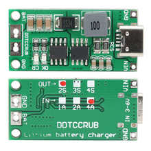 Charger Boost Module-Step-Up Lithium-Battery-Charger DDTCCRUB 2s-4a/2a/1a-optional