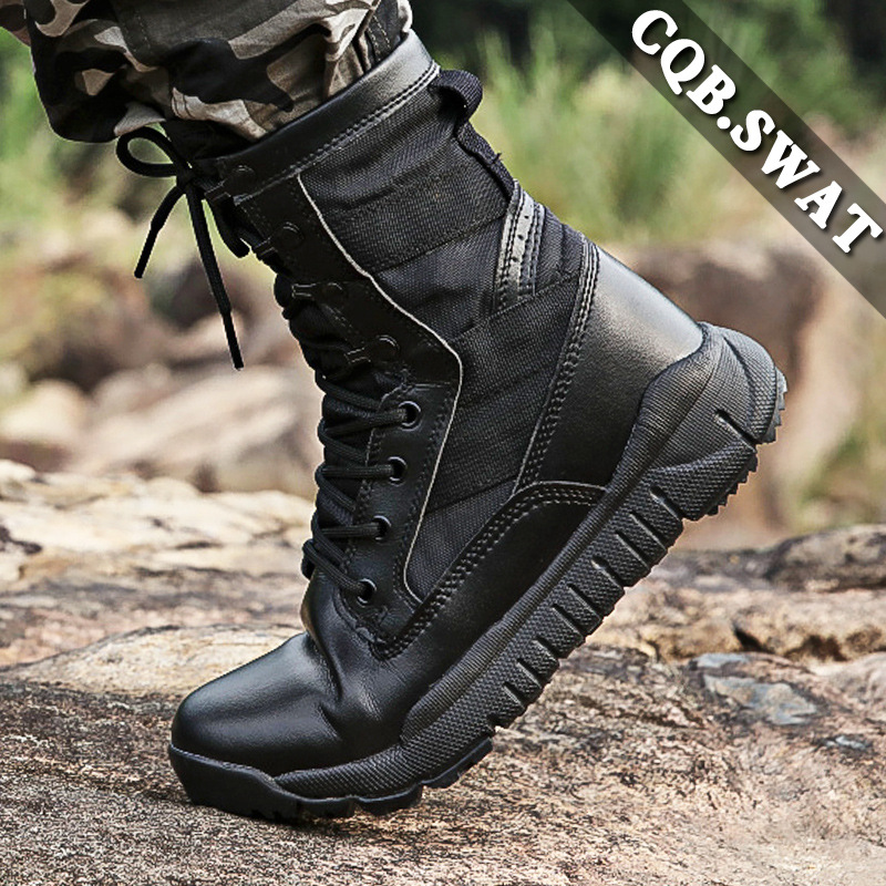Seconds Hair Ultra-Light 3.0 Combat Boots Mountain Climbing Hiking Camping Tactical Boots Training Shoes Black And White With Pa