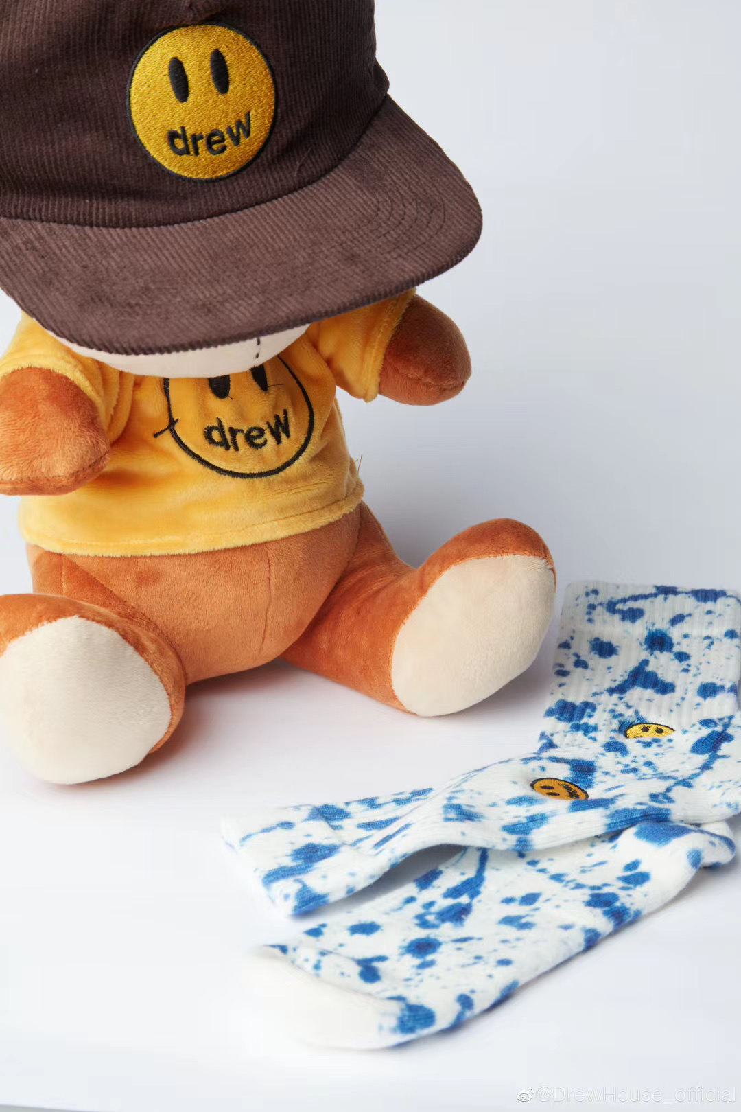 2020 Best Quality 1:1 Justin Bieber Drew House Brown Teddy Plush Hats Men Women Smiley Face Embroidery Drew Teddy