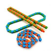 Random Color Funny Fidget Chain Anti Stress Toy For Kids Adult Bike Chain Fidget Bracelet Puzzle Educational Toys