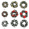 Christmas Wreath With Battery Powered LED Light String Front Door Hanging Garland Festival Thanksgiving Wreath Home Decoration