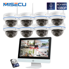 MISECU תקע ולשחק 8CH אלחוטי NVR ערכת 12 אינץ LCD NVR 1080P HD Vandalproof אבטחת IP מצלמה ראיית לילה WIFI טלוויזיה במעגל סגור מערכת