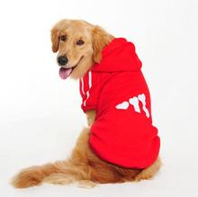 3XL-9XL Retriever Hoodies Sweatshirt For Golden Dogs Winter Thick Large Dog Overalls Jumpsuit Coat Bulldog Jacket
