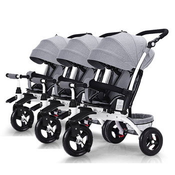 Triplets Tbaby stroller three baby bike stroller 3 in 1  can sit and lie can split the child tricycle can ride can sleep Trailer can can soundtracks lp