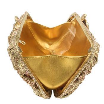 Champagne Crystal Flower Clutch  6