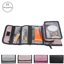 New fashion women makeup bags waterproof Folding travel Wash bag toiletries organizer Cosmetic bag Female Cosmetic Cases
