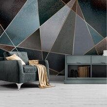 Youe Shone Abstract Wallpaper Geometric Line Color Block Retro Nostalgia Modern Minimalist Light Luxury Background Wall Picture