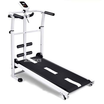 2020 new electric flat walking machine indoor fitness equipment slimming slow treadmill New Treadmill, Folding Mechanical Treadmill, Ftness Treadmill, Multi-function Silent Fitness Equipment Treadmill With Handrail