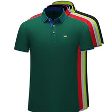 New Design Summer Mens Short Sleeve Polos Shirts Embroidery Logo Casual Cotton Polos Homme Male Clothes Lapel Tops S-4XL