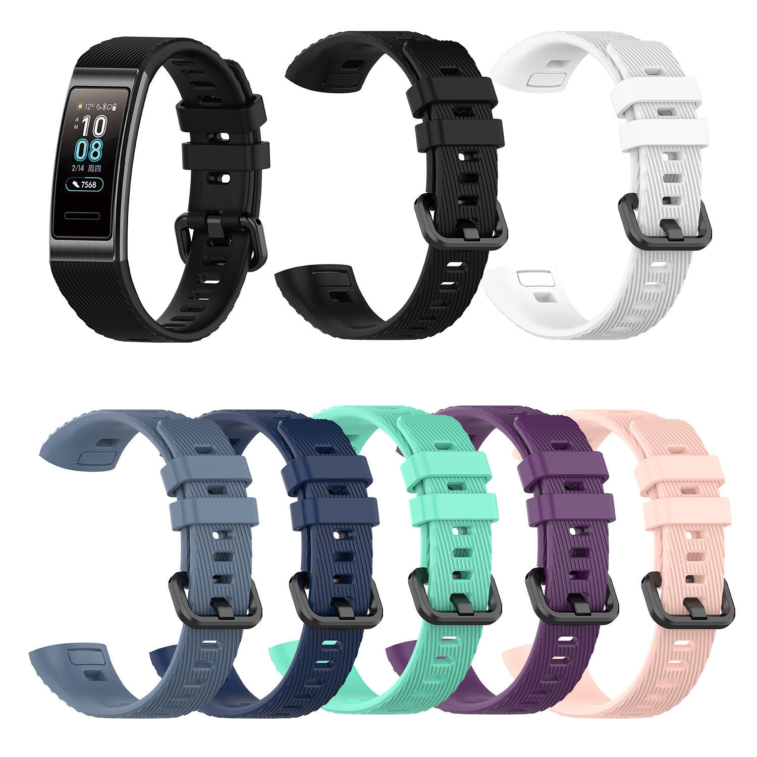 For Huawei 3 Band 3 Pro New Replacement Band Silicone Bracelet Wristband Strap