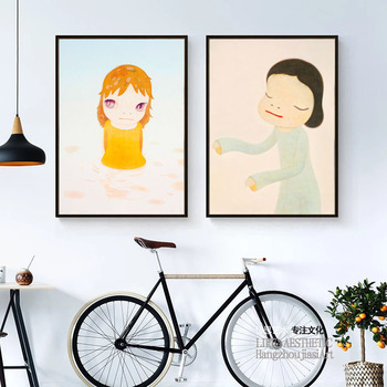 Sleepwalking Dolls Cartoon Canvas Art Painting Print Poster Picture Wall Desk Baby Girl Room Home Decor/decoration home01 image