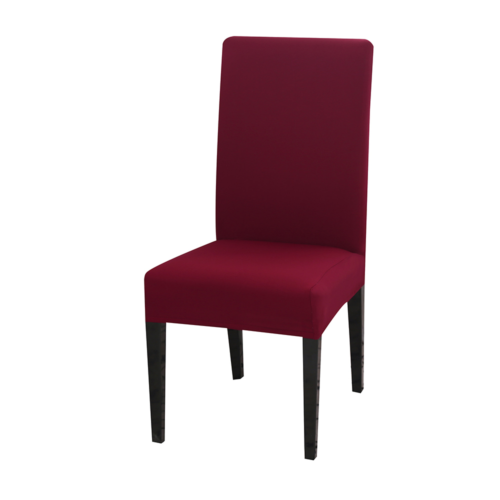 Solid Color Chair Cover of Spandex Material with Elastic for Dining Room and Wedding Hall 17
