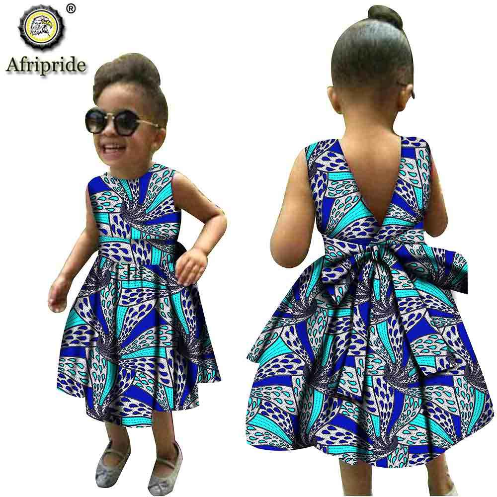Skirt Ankara Ethnic Sloping Wax Sleeveless Sling Skirt Summer Party Print Off Shoulder African Print Style Dress MORETIME Toddler Girl African Dashiki Halter Dresses