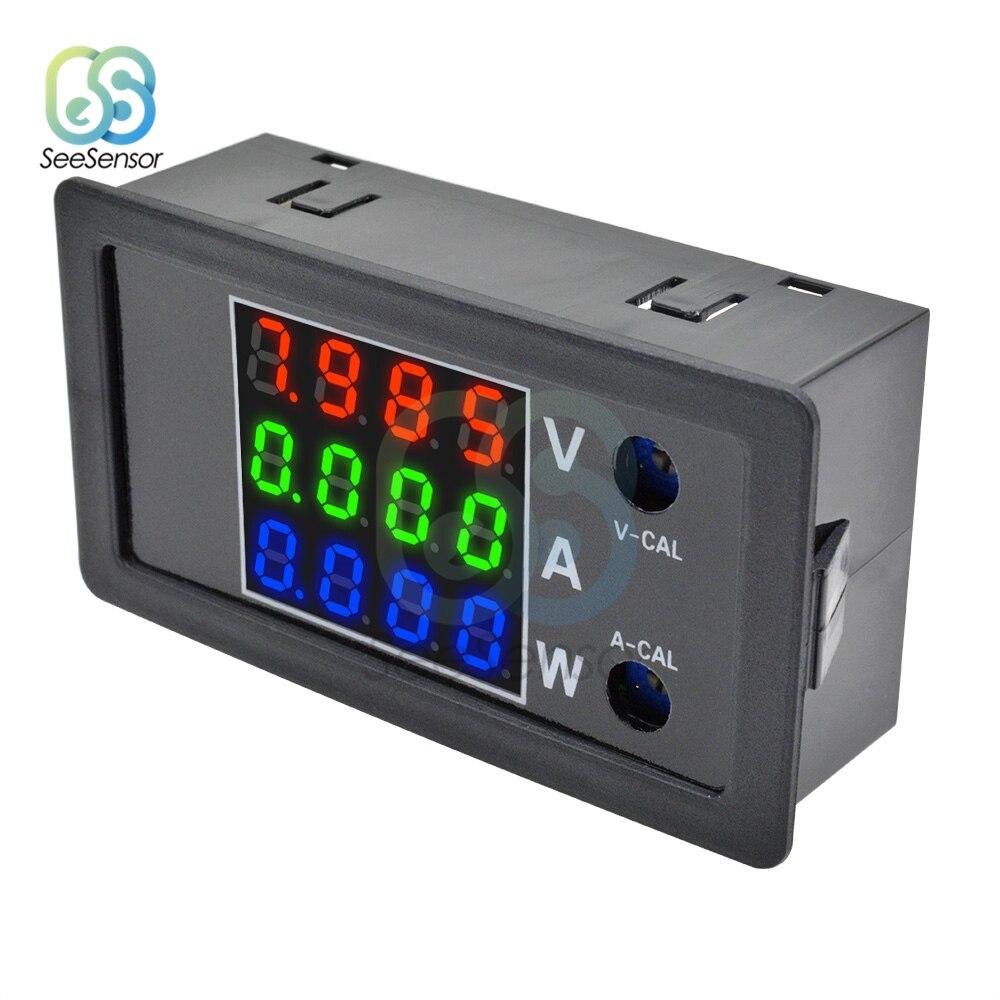 DC 0-100V 10A 1000W 0,28 LCD 4 voltímetro Digital amperímetro corriente de voltaje de alta precisión detector de medidor de potencia