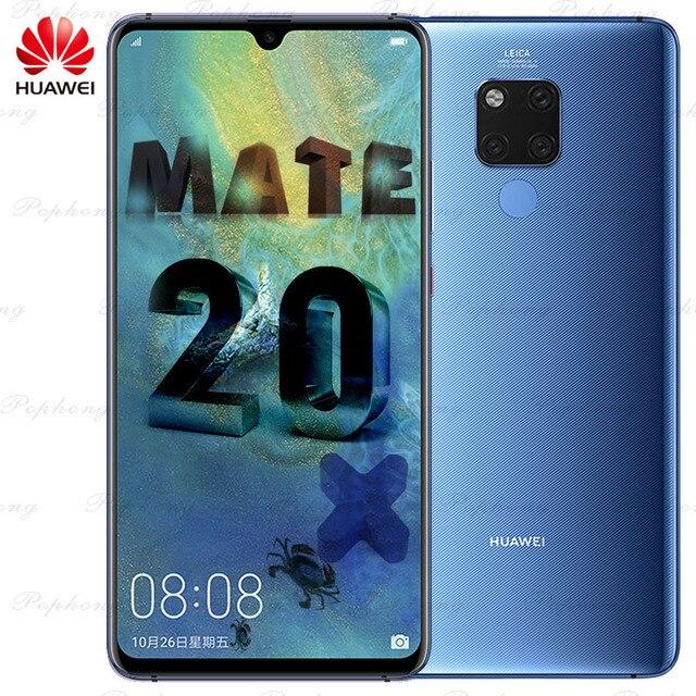 7.2インチのフルスクリーンhuawei社メイト20 × メイト20X携帯電話andorid 9.0キリン980オクタコア40.0MP nfc IP53急速充電器