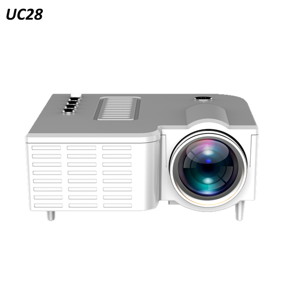 UC28 LED MINI Projector TFT LCD 320* 180 50 Lumens AV /USB/ TF 60 Inch Mini Portable Projector 1920*1080 Home Theater Projector image