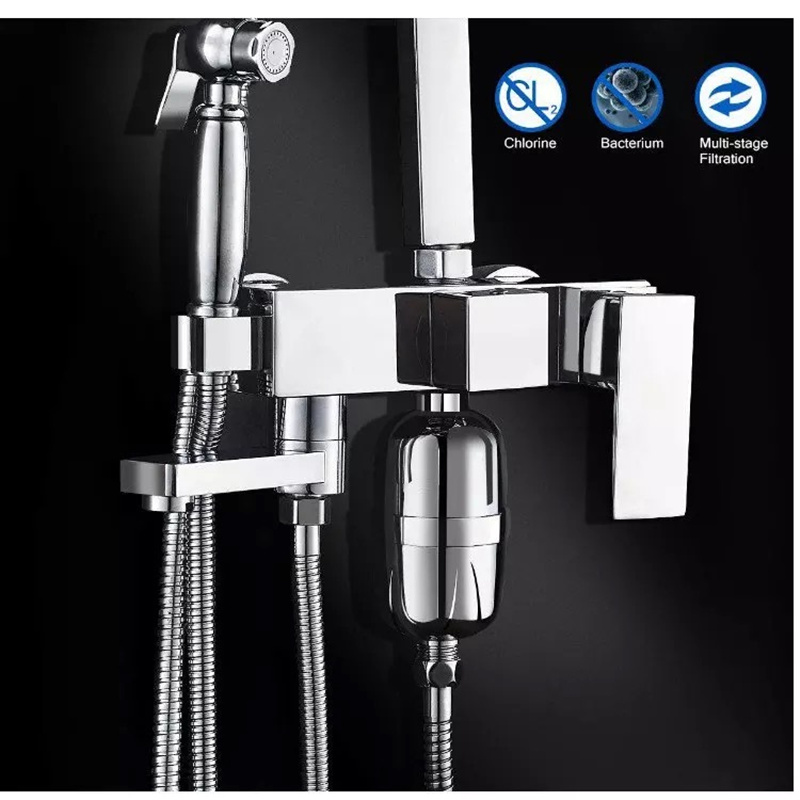 Bathroom Shower Filter Bathing Water Filter Purifier Water Treatment Health Softener Chlorine Removal Oversea Free Shipping