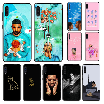 Aubrey Drake Graham SINGER Phone case For Samsung Galaxy A 3 5 6 7 8 20 40 50 70 71 E S Plus 2016 2017 2018 black painting coque image