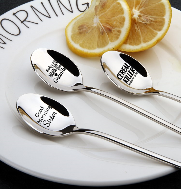 Creativity Personalized Stainless Steel Coffee Spoon Tea Spoon Valentine's Day Thanksgiving Christmas Gift for Him Gift for Her