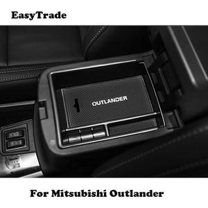 Caja para reposabrazos central de coche caja de almacenamiento accesorios de coche para Mitsubishi Outlander 2013 2014 2015 2016 2017 2018 accesorios de 2019