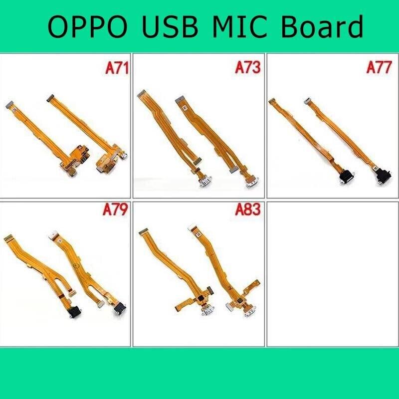OPPO A71 A73 A77 A79 A83 A1 A3 A5 USB Charging Board Flex Cable Microphone MIC Vibrating Motor Flashlight FFC PCB IC Connector