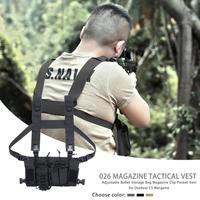 Adjustable Bullets Packing Storage Bag Outdoor Special Purpose Long Service Life Outdoor CS Wargame Magazine Pocket Vest