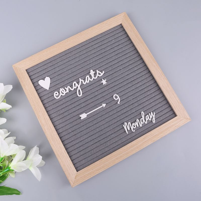 4Pcs/Set Characters For Felt Letter Board Numbers For Changeable Letter Board AXYF