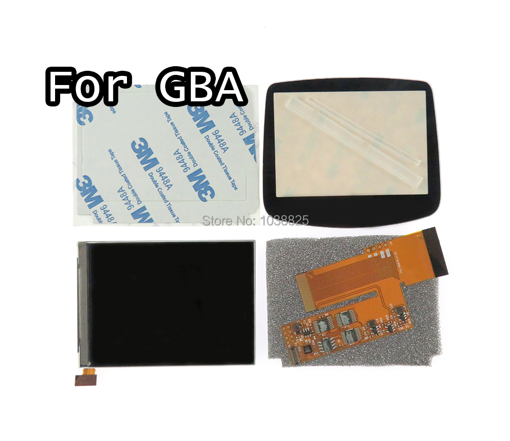 LCD V2 Screen Replacement Kits for Nintend GBA backlight lcd screen 10 Levels High Brightness IPS LCD V2 Screen For GBA Console