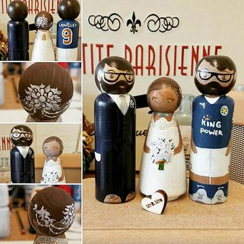 10pcs Creative DIY Peg Dolls Wooden Unpainted Weddings Cake Topper Decoration Provide Hours Of Creative Gameplay Funny image