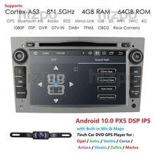 Hizpo 4G RAM Octa 8 Core Android 10.0 2 DIN Car DVD Player For Opel Astra H Vectra Corsa Zafira B C G car WIFI SWC OBD2 DVR