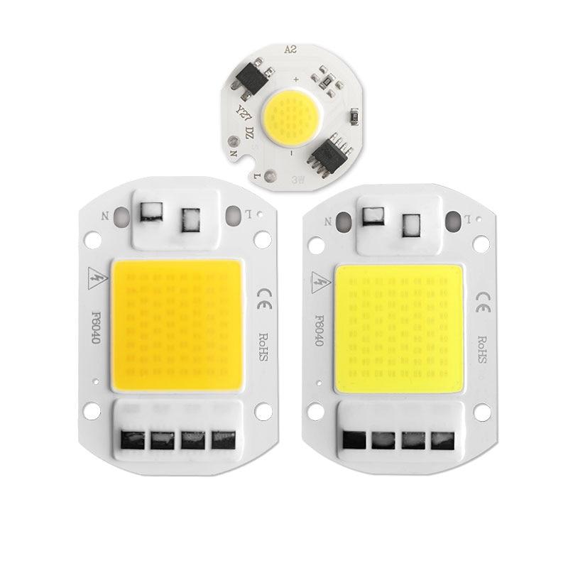 COB LED Chip 3W 5W 7W 20W 30W 50W Cool Warm No Need Driver AC 220V Flood Light Bulb Chip Diy Spotlight Floodlight