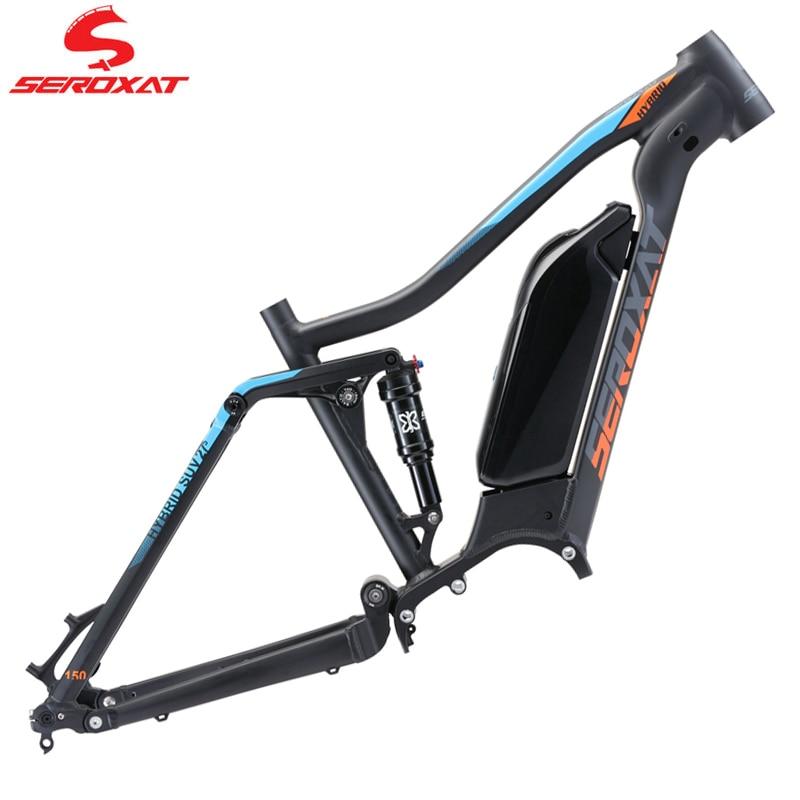 Рама для горного велосипеда SEROXAT AM Frame 27,5 29er MTB рамка DH из алюминиевого сплава гибридная рама для велосипеда задний амортизатор 150 мм мотор дл...