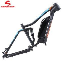 SEROXAT Mountain Bike Frame AM Frame 27.5 29er MTB DH Frame Aluminum alloy Hybrid Bike Frame Rear Shock 150mm E-bike Motor 1000W