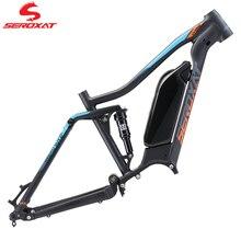 Seroxat mountain bike quadro am quadro 27.5 29er mtb dh quadro liga de alumínio híbrido bicicleta choque traseiro 150mm e bike motor 1000w