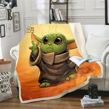 custom diy print warm christmas blankets 150x200cm merry christmas blanket flannel fabric sofa bed blanket home decor blanket Star Wars Baby Yoda Blanket Design Flannel Fleece Blanket  Printed Sofa Warm Bed Throw Blanket Adult  Blanket style-8