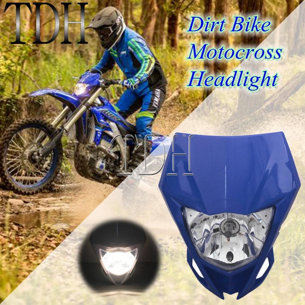 Синяя мотоциклетная двойная Спортивная фара для Yamaha YZ YZF WR WRF 125 230 250 450 250F 450F MX Enduro головной свет обтекателя