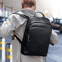 LIELANG 100% Leather Backpack Men's Backpack Simple High Quality Male Leather Fashion Trend Youth Leisure Travel Computer Bag