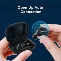 Mornlex mt01 tws bluetooth 5.0 fones de ouvido estéreo sem fio botão controle cancelamento ruído jogos esportes à prova dheadset água fone 3