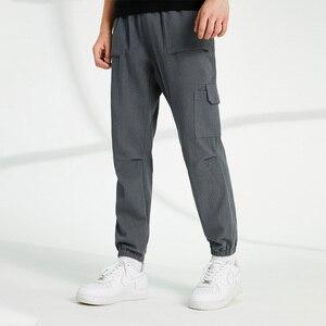 Image 2 - Pioneer Camp spodnie na co dzień mężczyźni luźna odzież uliczna 100% bawełna czarny szary Cargo spodnie dla mężczyzn AXX902322