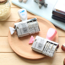 1PCS WCIC Words Date Roller Stamp Clear Stamps for Scrapbooking DIY Seal Stempel Christmas Stamps Craft Stempels for Card Making